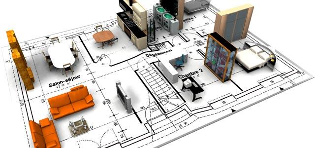 plan amenagement interieur appartement